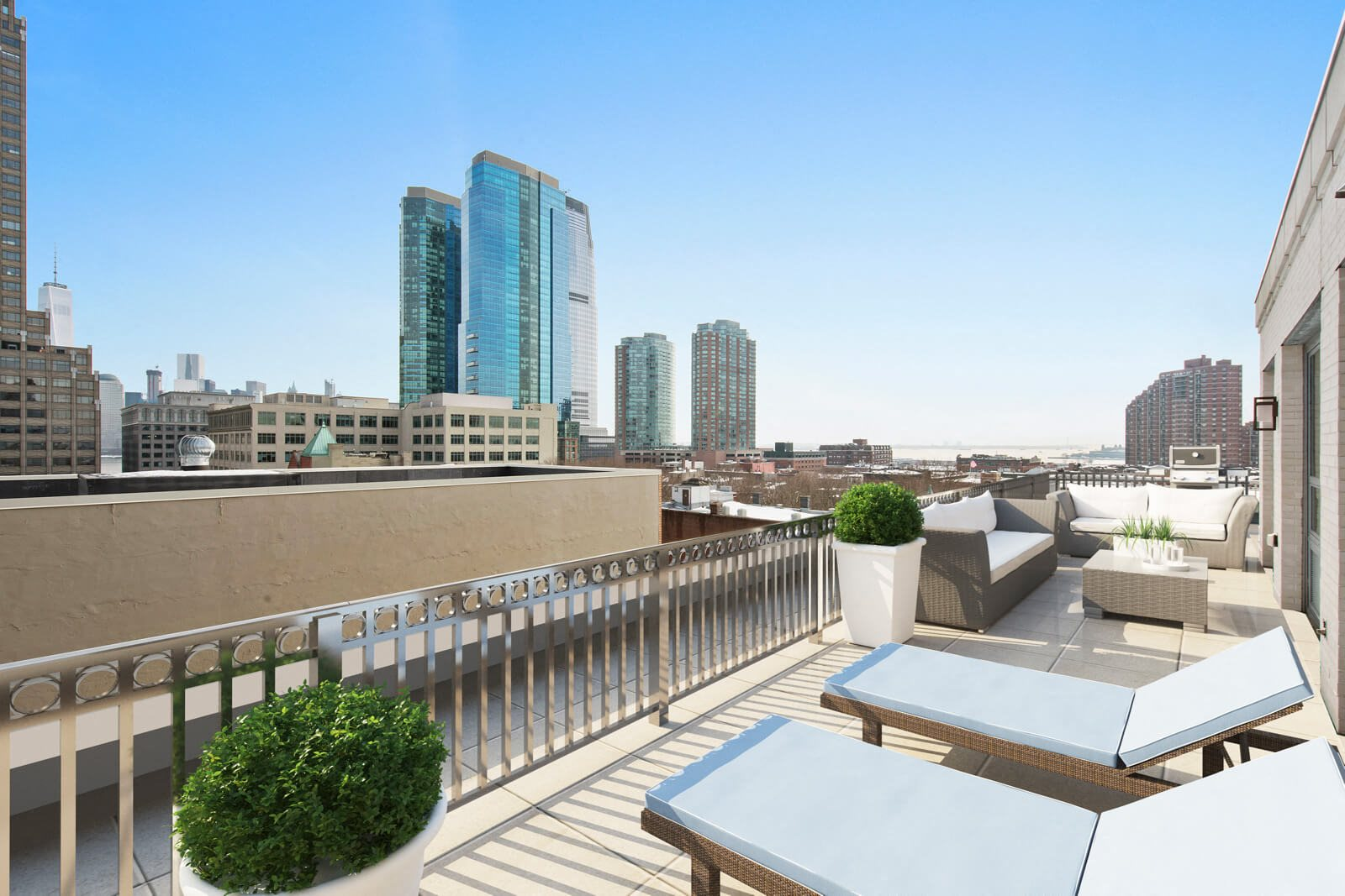 Expansive, Private Terraces in Select Apartments at Warren at York by Windsor, Jersey City, NJ