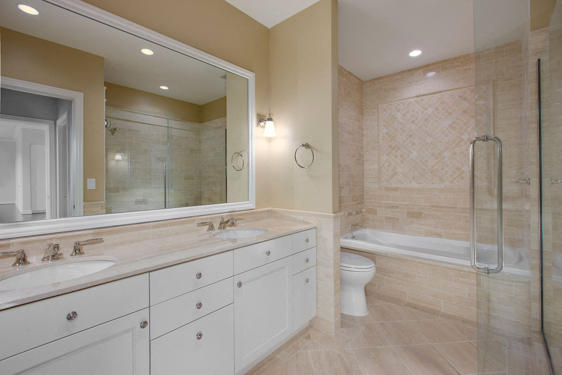Bathroom With Extra Storage Space at The Woodley, Washington, DC