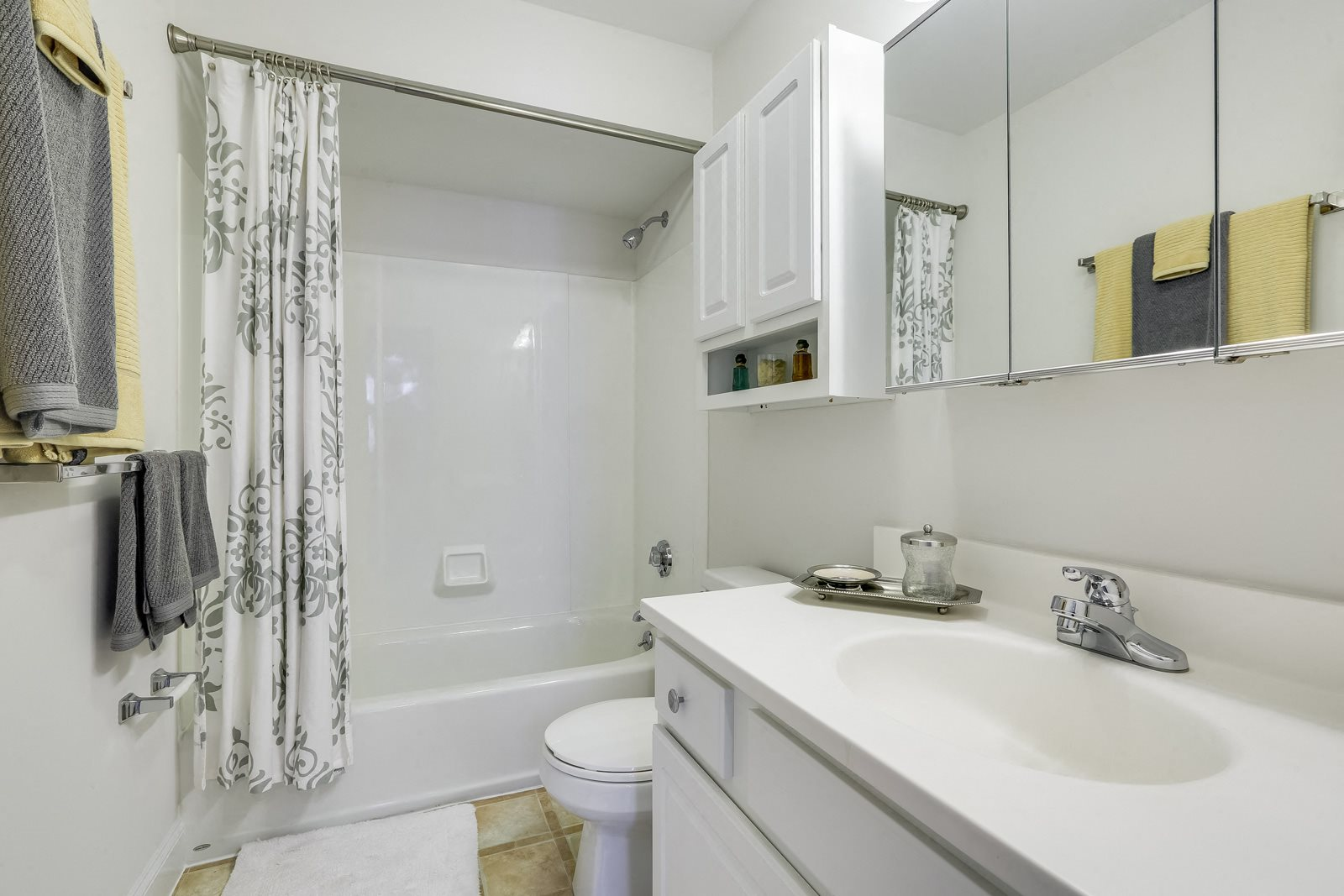 Bathroom with Ample Storage at Windsor Village at Waltham, Waltham, 02452