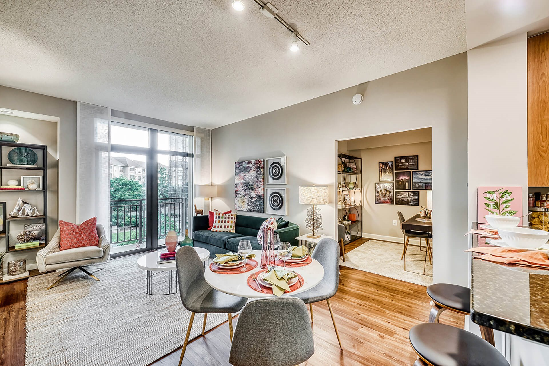 Living spaces, at Halstead Tower by Windsor, 4380 King Street, VA