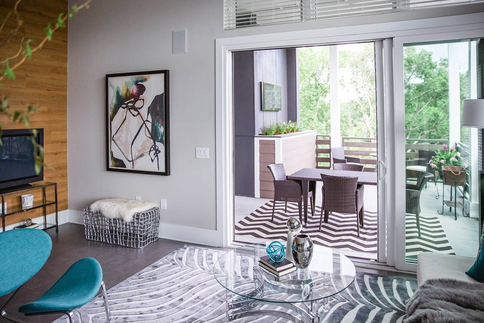 Glass Doors Creates A Flowing Living Space at Morningside Atlanta by Windsor, 30324, GA
