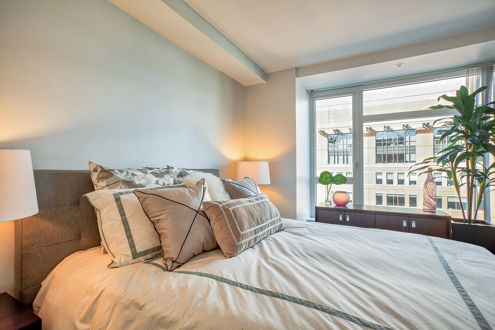 High ceilings floorplan at Waterside Place by Windsor, 505 Congress St, MA