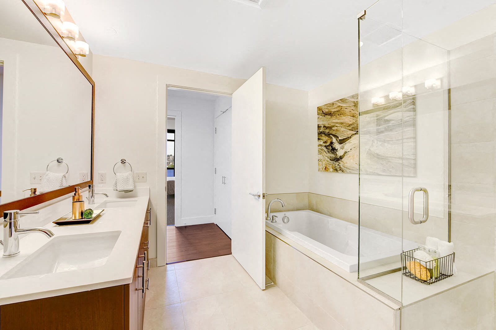 Luxurious Bathrooms with Dual Vanities Available at Cirrus, Washington, 98121