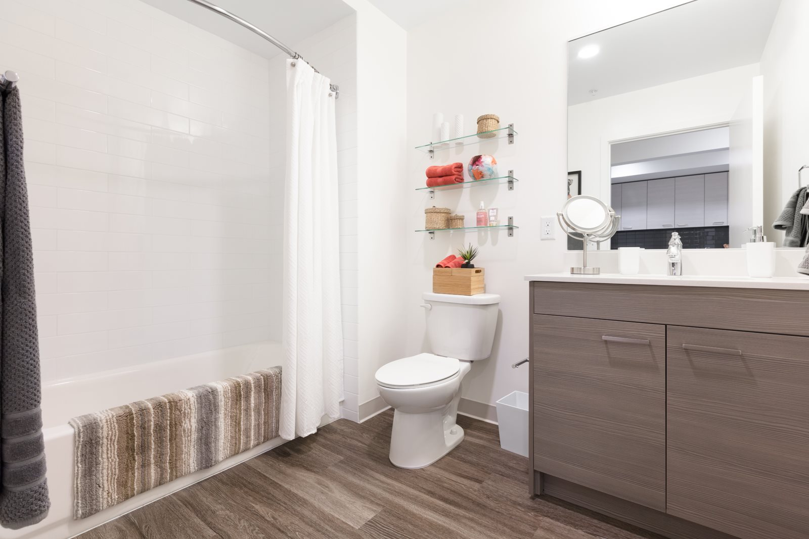 Spacious Bathroom with Modern Fixtures at Mission Bay by Windsor, 360 Berry Street,  San Francisco