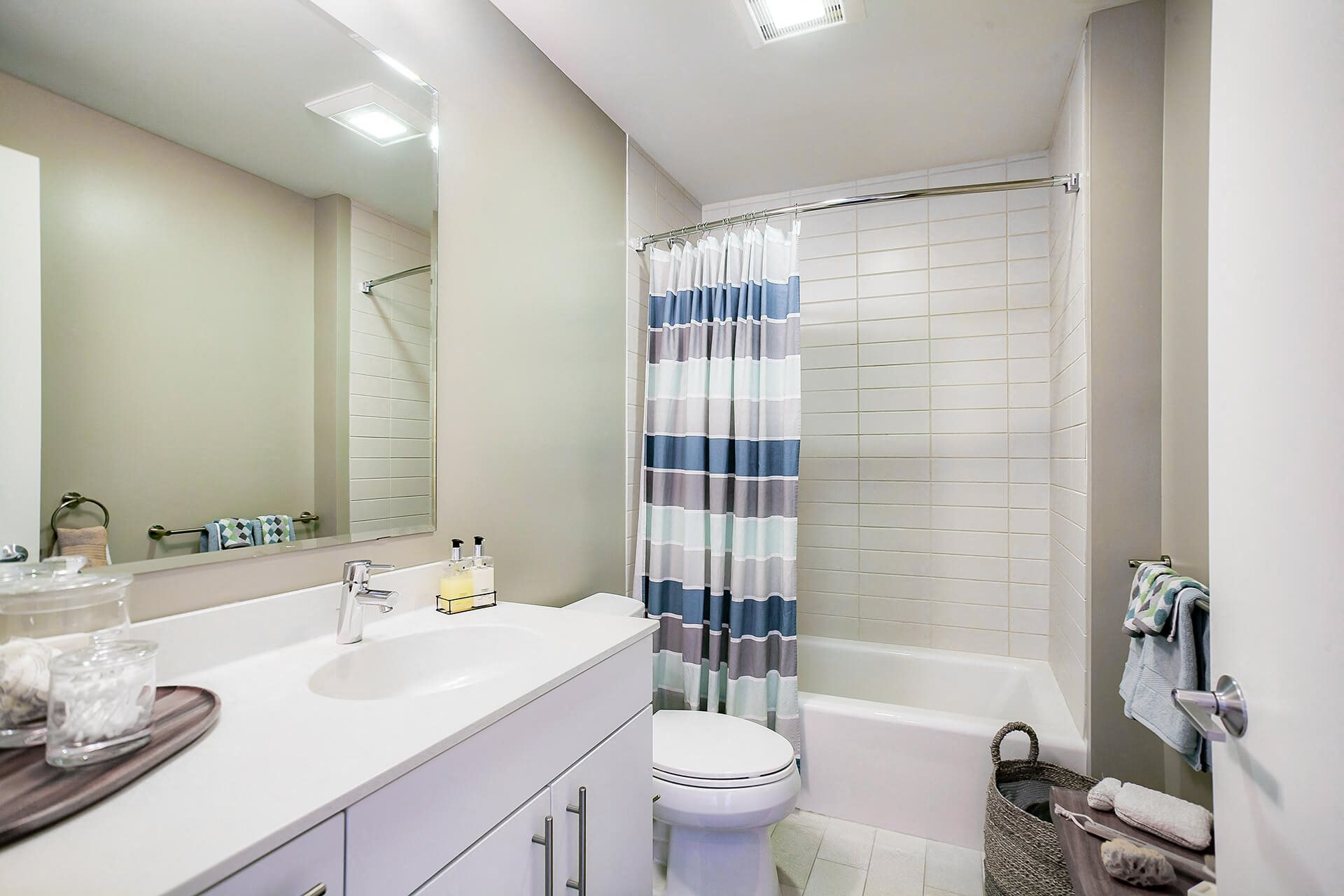Luxury bathrooms at Waterside Place by Windsor, Boston, MA