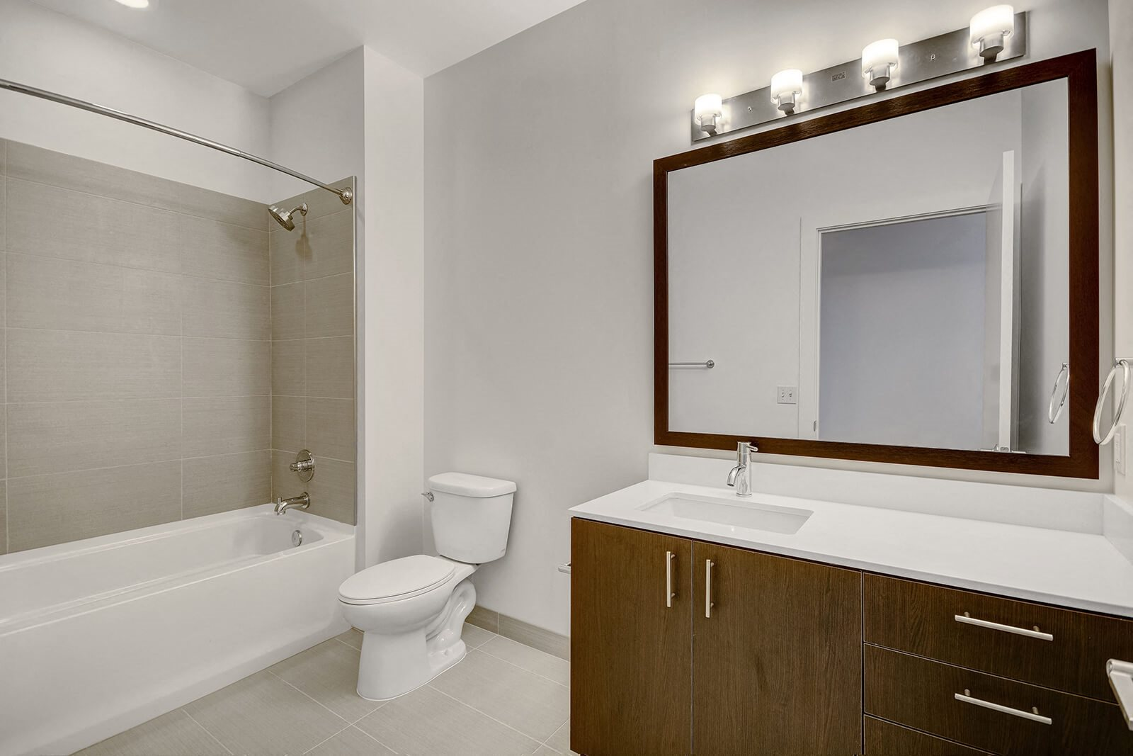 Bathrooms with Large Tub and Shower at Cirrus, 2030 8th Avenue, WA