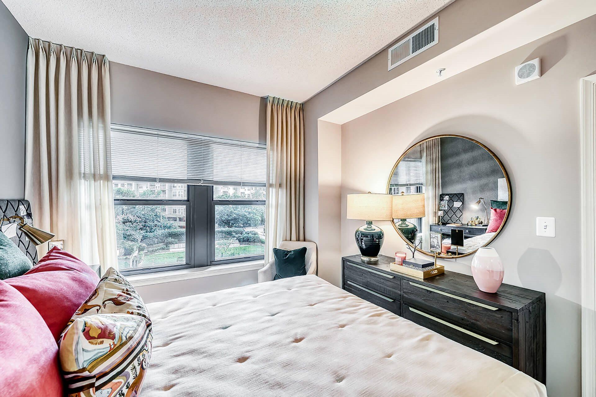 Bedrooms, at Halstead Tower by Windsor, Alexandria, Virginia