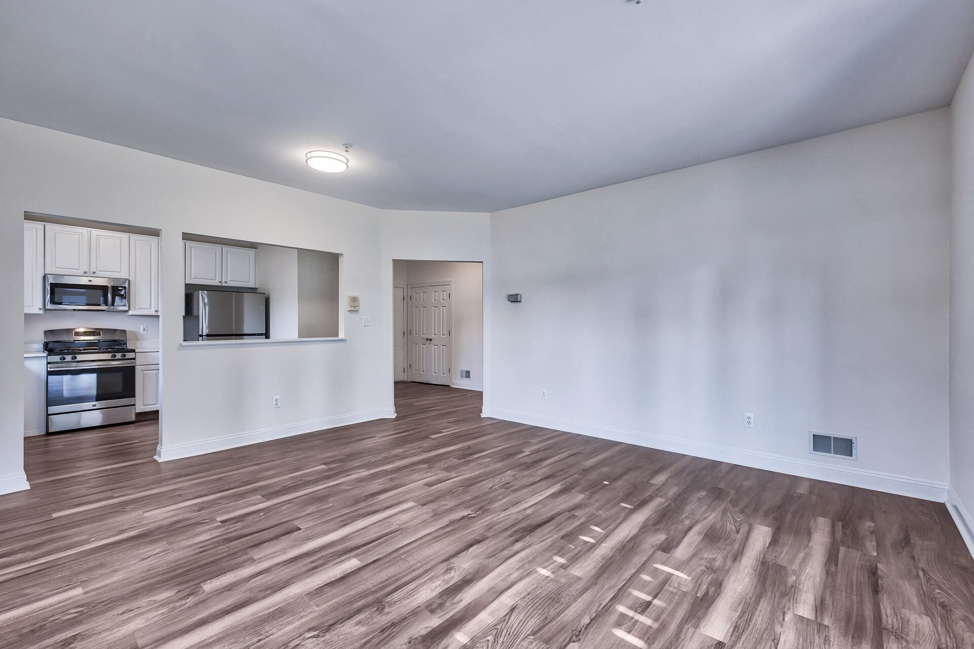 Huge living space in each apartment at Windsor at Mariners, Edgewater, 07020