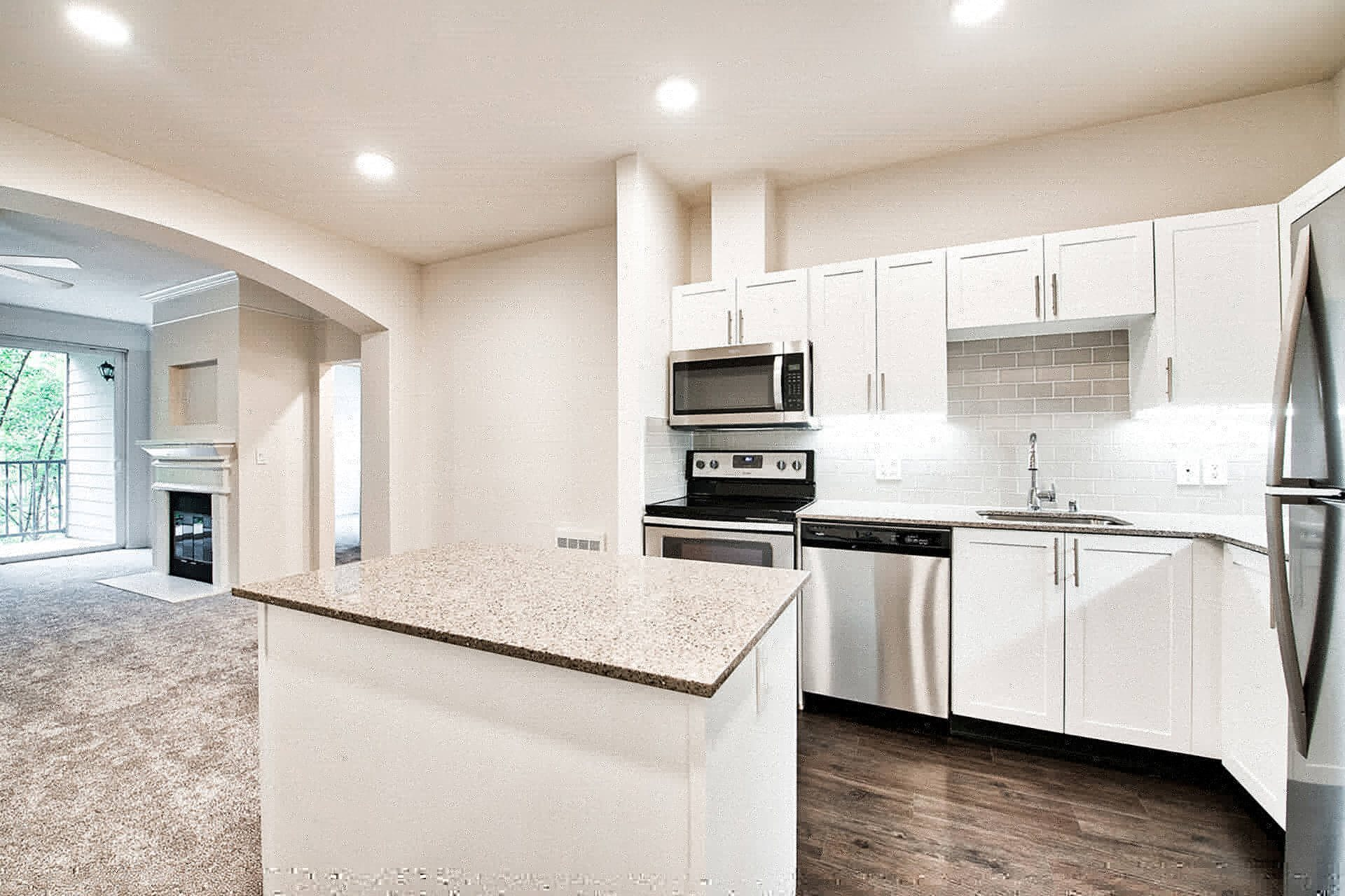 Granite Countertops in Kitchen at Reflections by Windsor, 6332 E. Lake Sammamish Parkway NE, Redmond