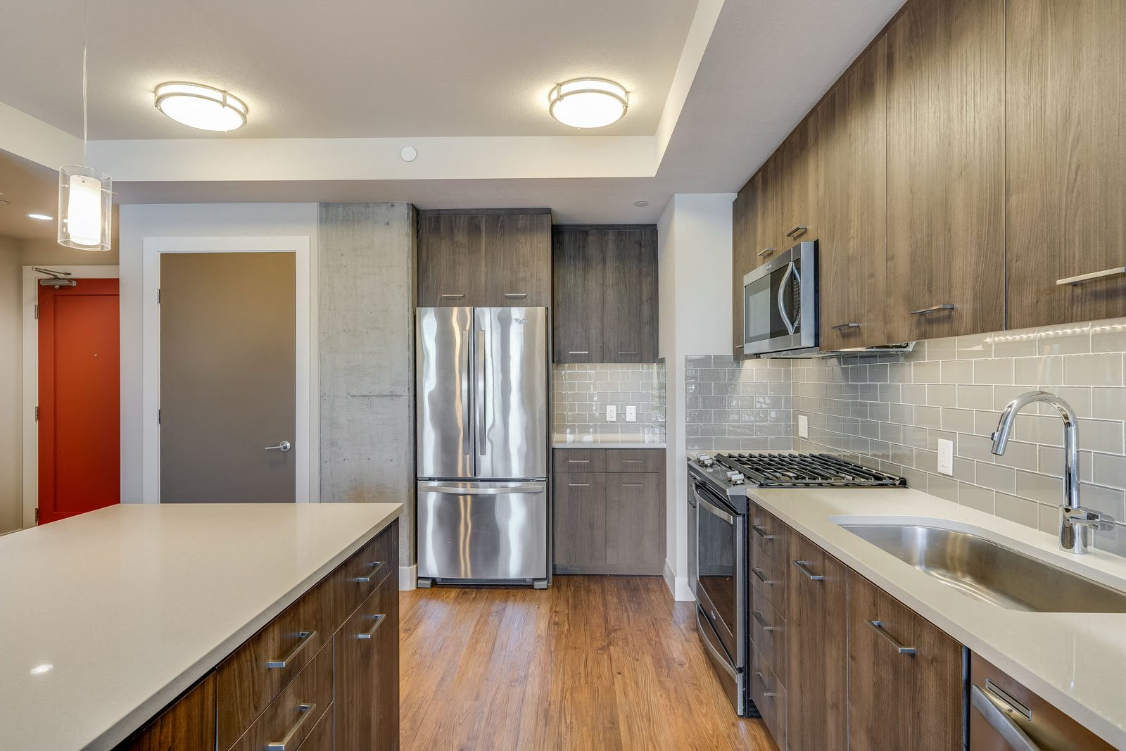 Quartz Countertops at The Marston by Windsor, 825 Marshall Street, Redwood City