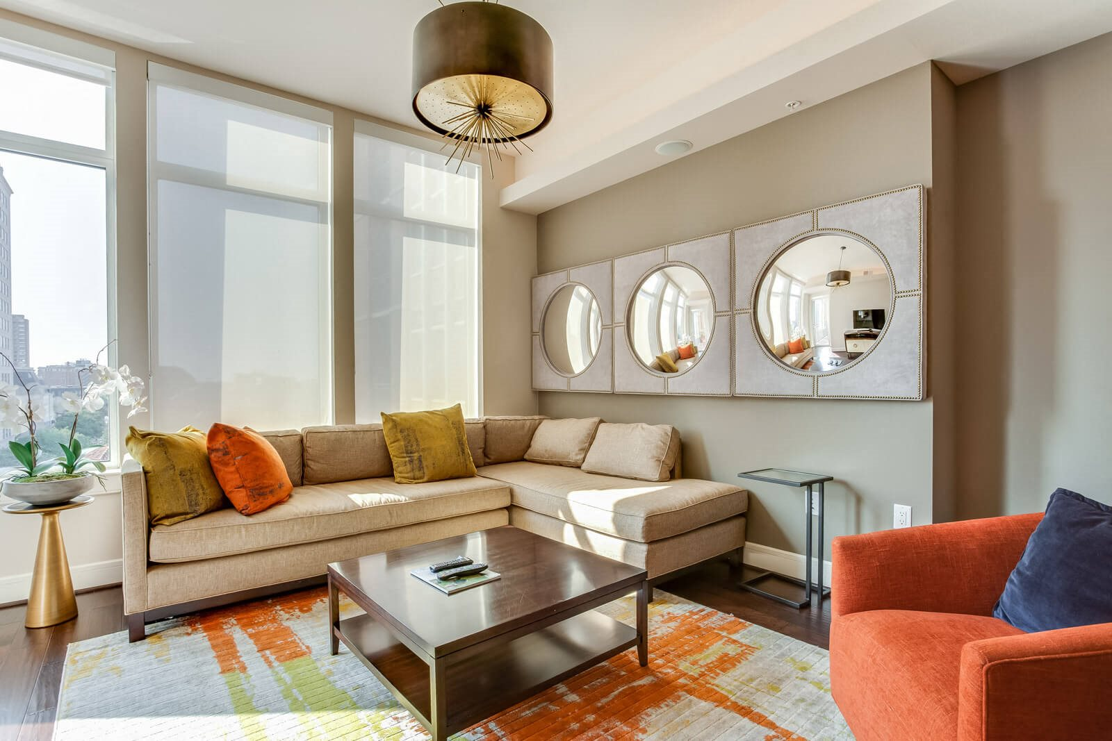 Floor-To-Ceiling Windows with Solar Shades at The Jordan by Windsor, Dallas, Texas