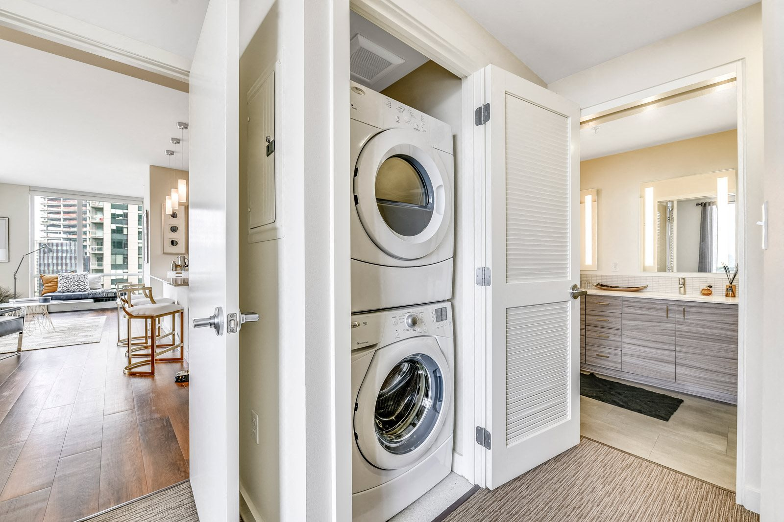 In-Home Washer and Dryer at The Martin, Seattle, Washington