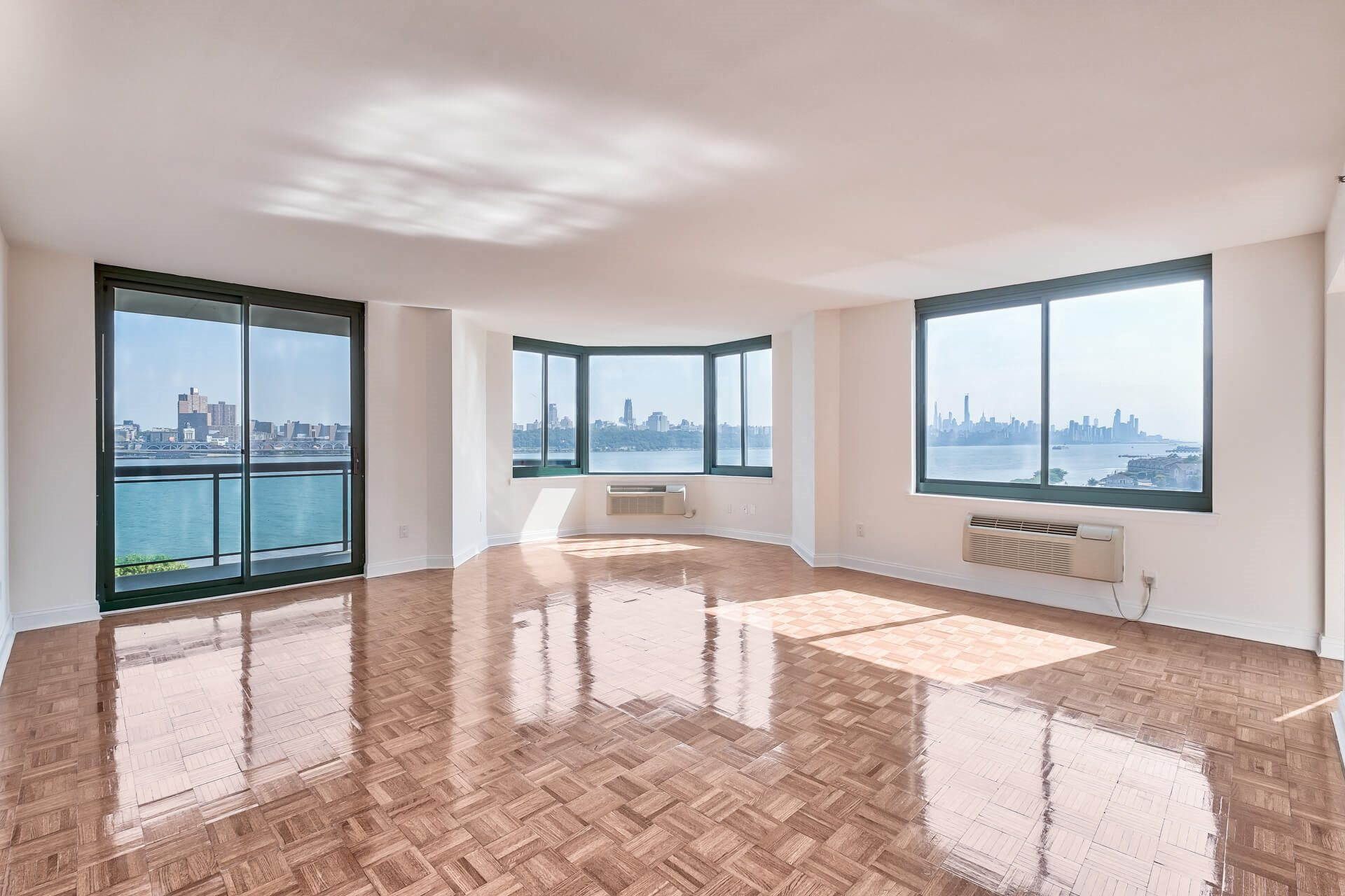 Posh Living Room View with Balcony at Windsor at Mariners, 100 Tower Dr., NJ