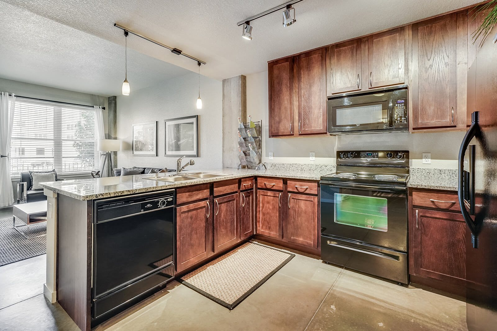 Fully-Equipped Kitchen at Windsor at Broadway Station, Colorado, 80210