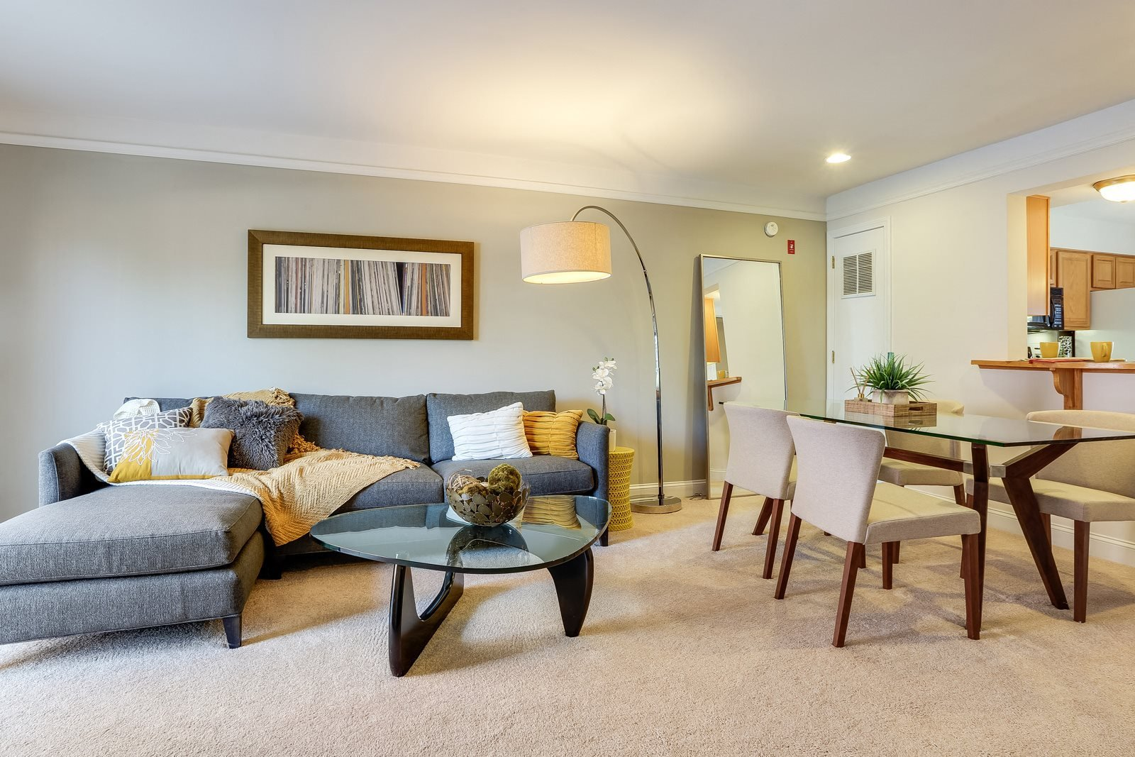 Living Room and Dining Room at Windsor Village at Waltham, 02452, MA
