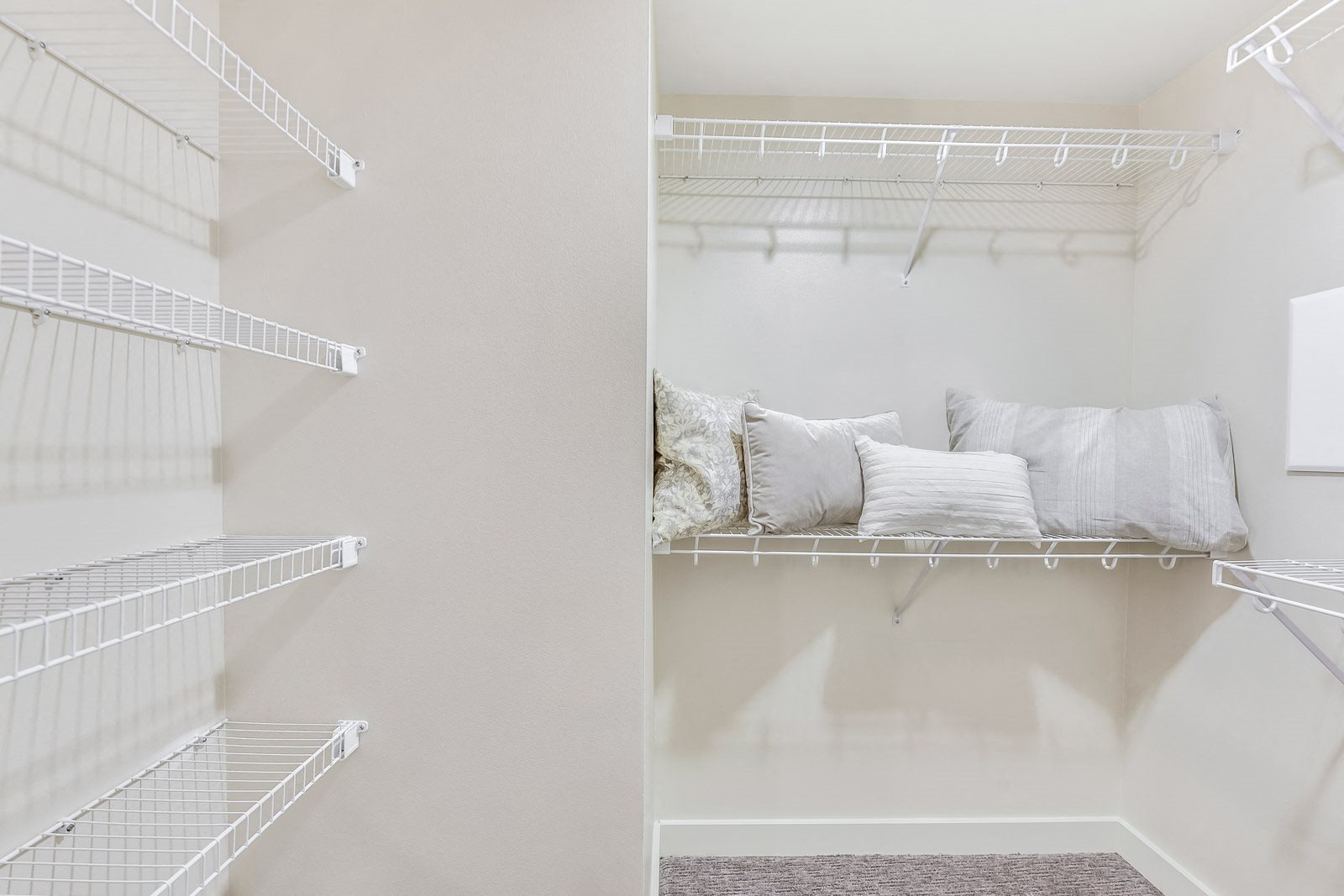 Spacious Closets with Built-in Shelving at The Martin, 98121, WA