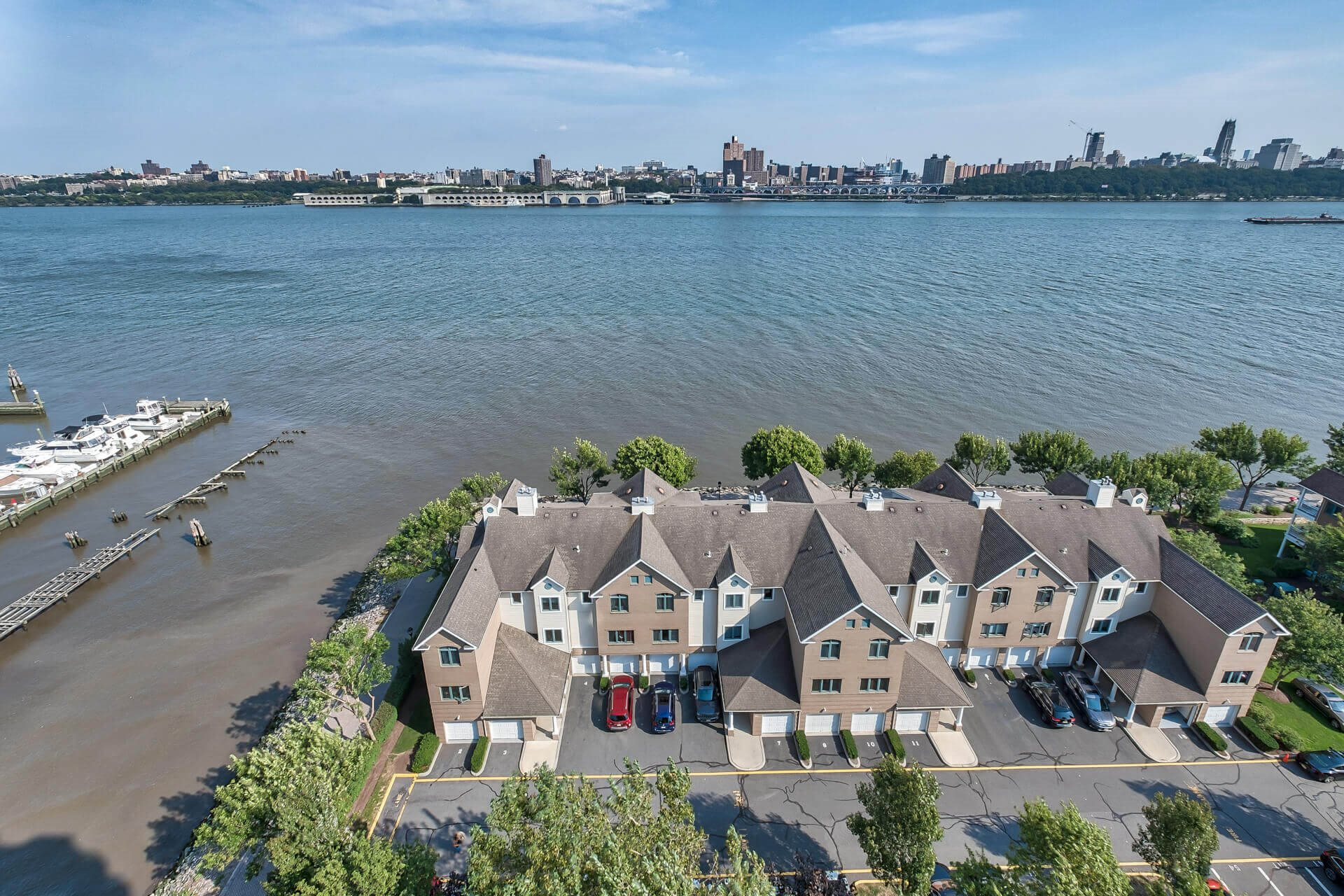 City view from apartments at Windsor at Mariners, Edgewater, New Jersey