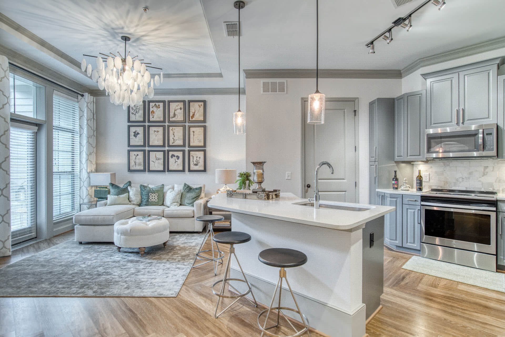 Luxe Kitchens With New Appliances at Windsor Chastain, Atlanta, Georgia