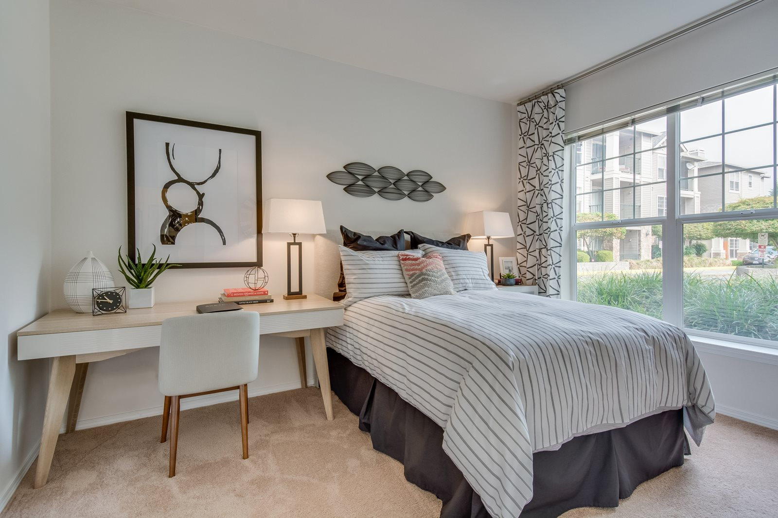 Spacious bedrooms with lots of natural light at Reflections by Windsor, Redmond, WA