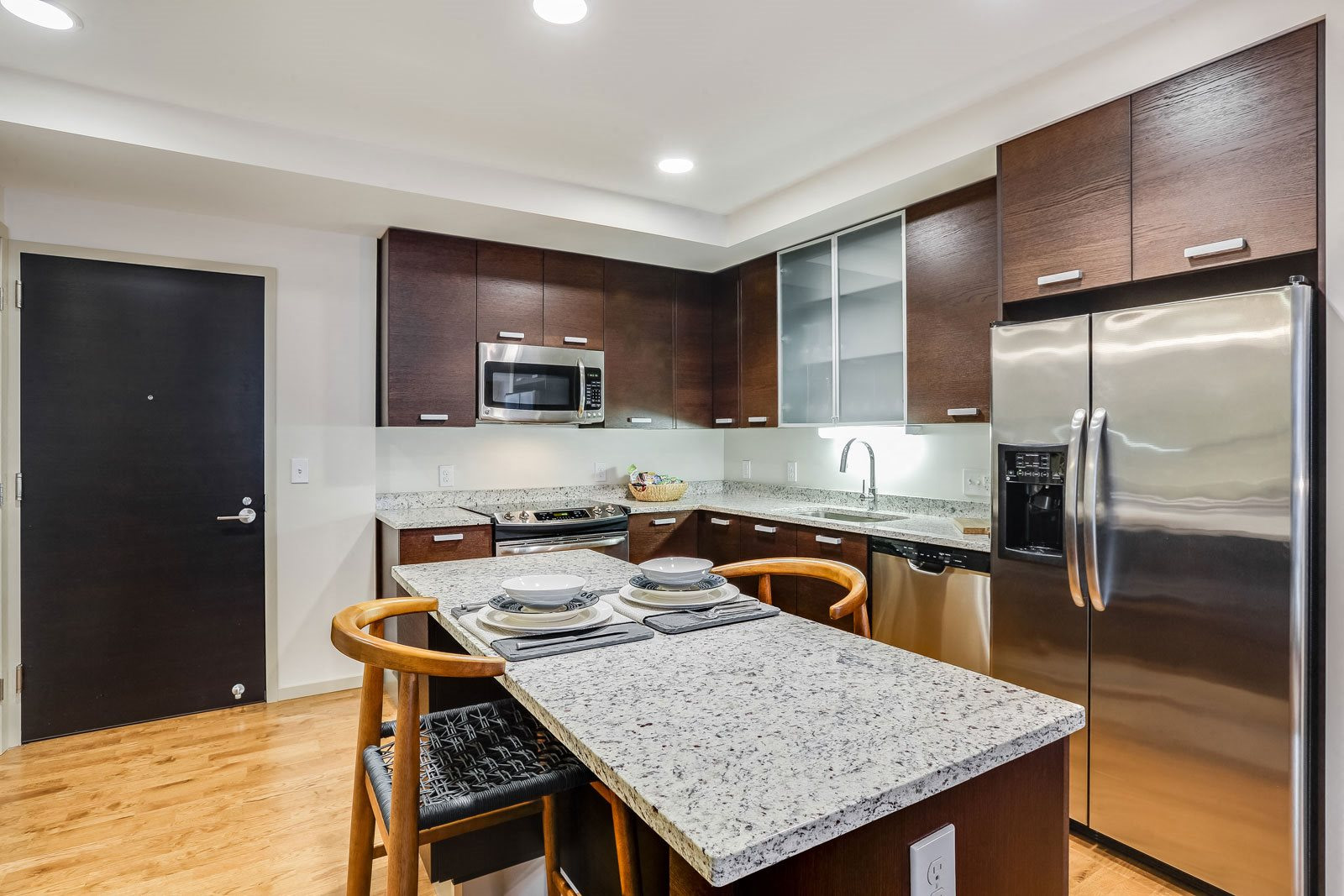 Modern Kitchens with stainless Steel Appliances at The Victor by Windsor, 02114, MA