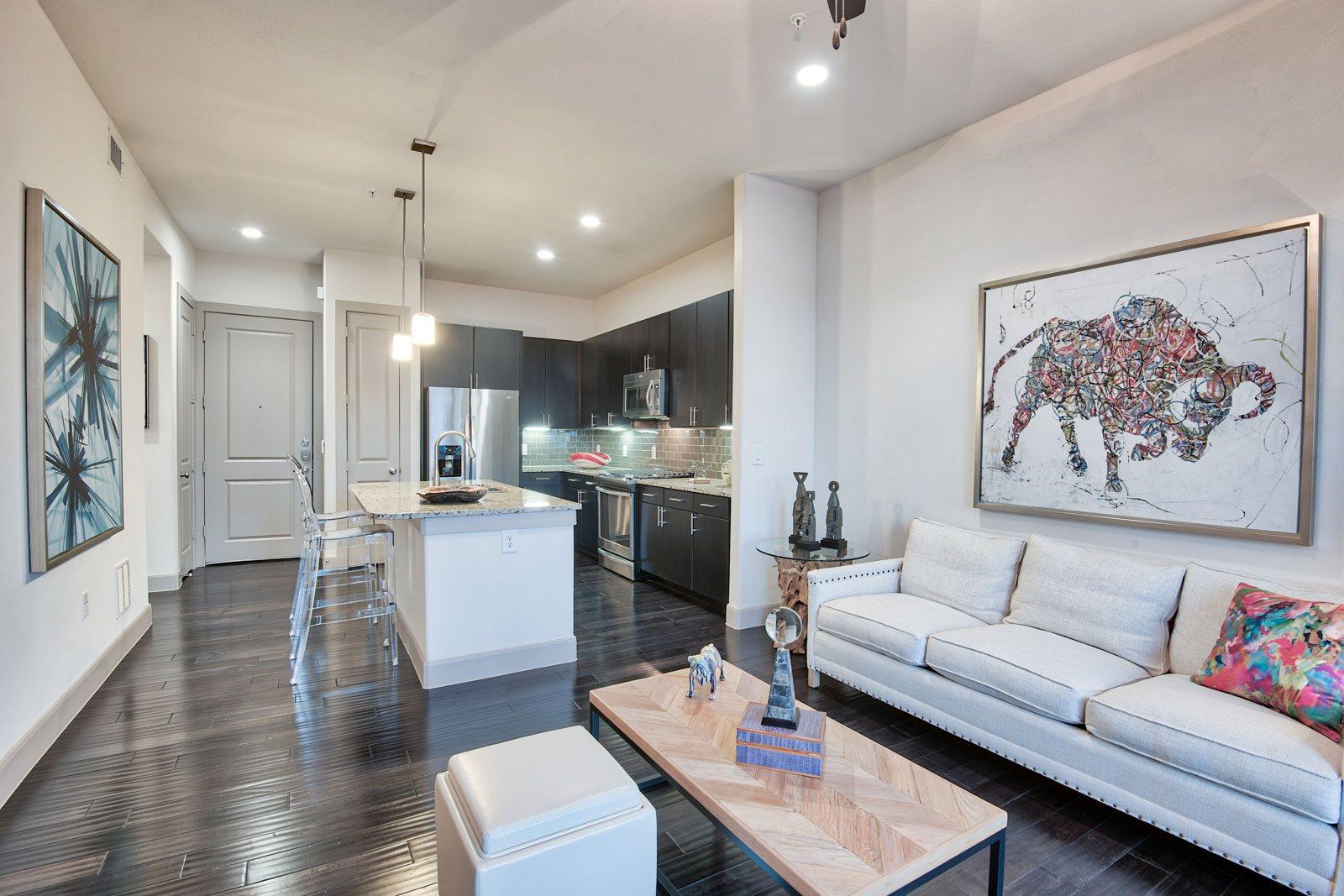 Hardwood Floors at Midtown Houston by Windsor, 2310 Main Street, Houston