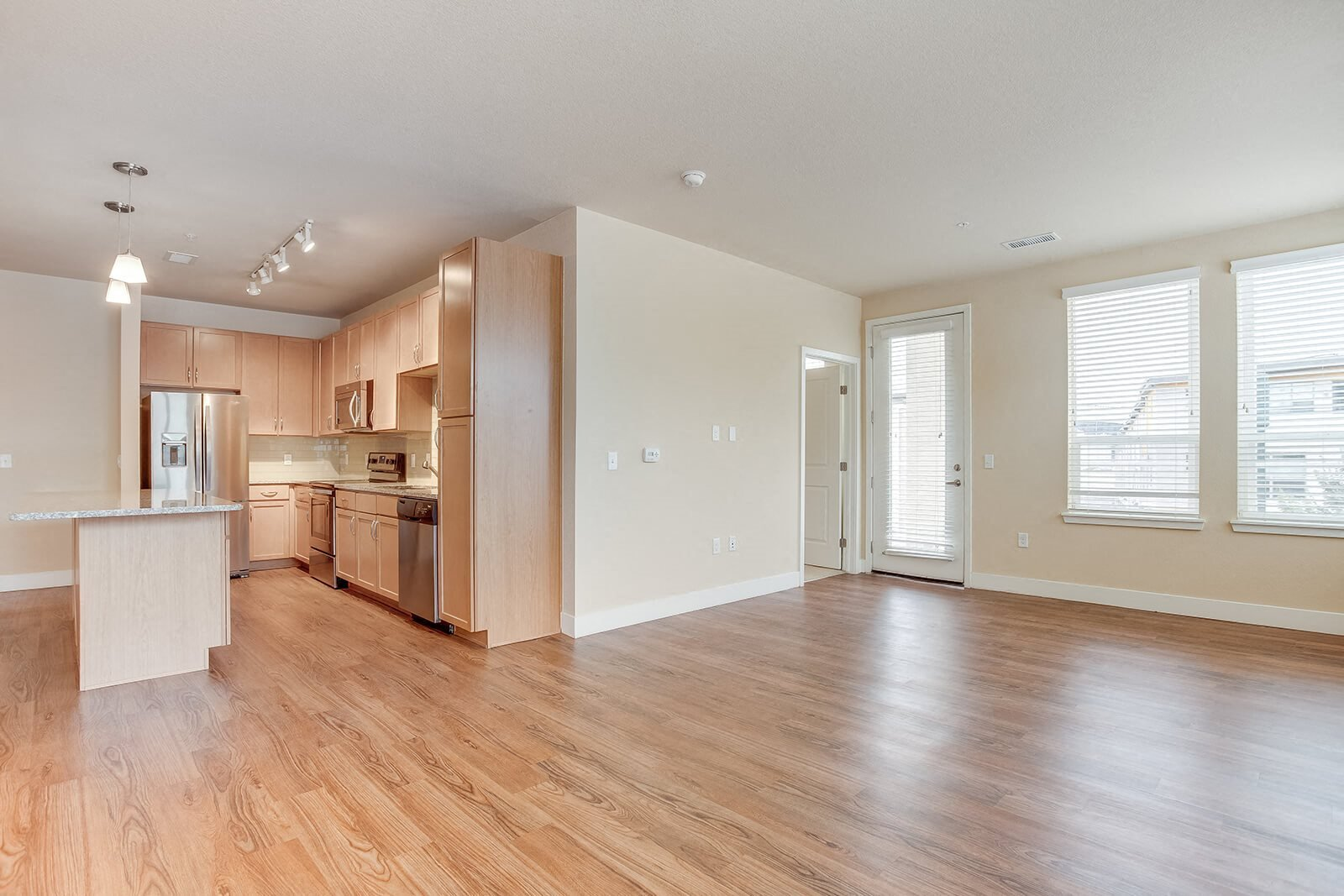 Wood Floors in Living Space at Element 47 by Windsor, 2180 N. Bryant St., Denver
