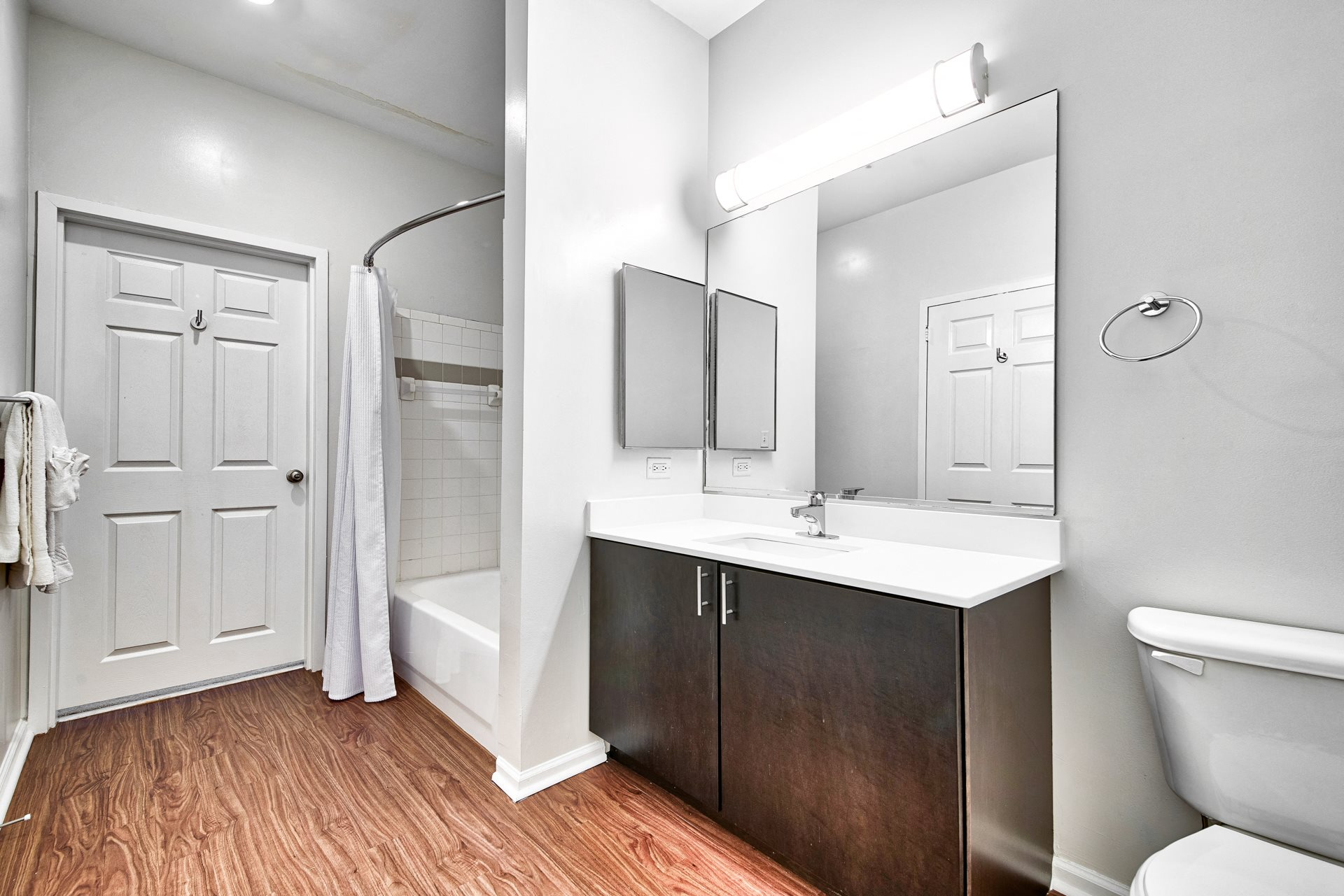 Newly renovated, Spa-Inspired Bathrooms at Windsor at Liberty House, Jersey City, NJ