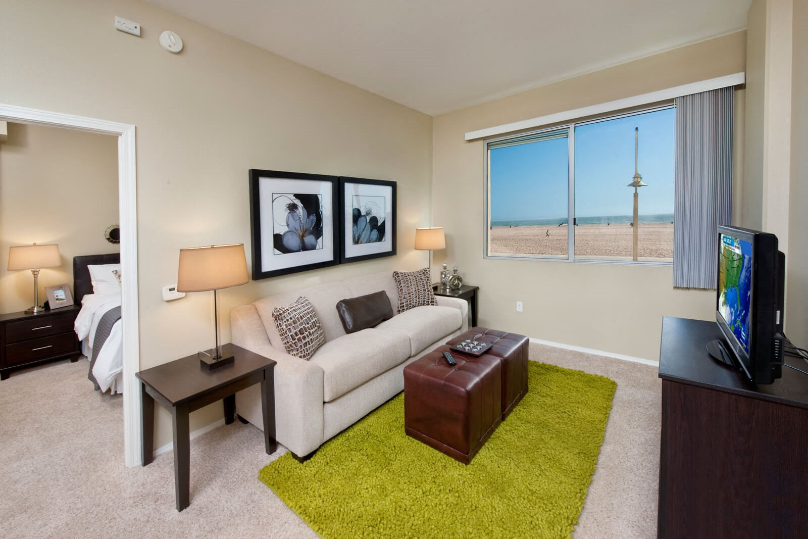 Abundant Natural Light in Apartments at Sea Castle, Santa Monica, California
