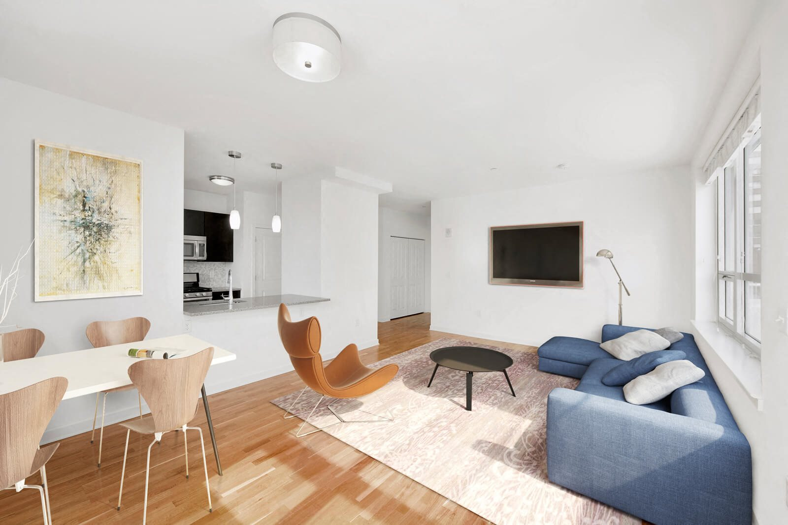 Sleek and Modern Apartment Design at Warren at York by Windsor, Jersey City, NJ