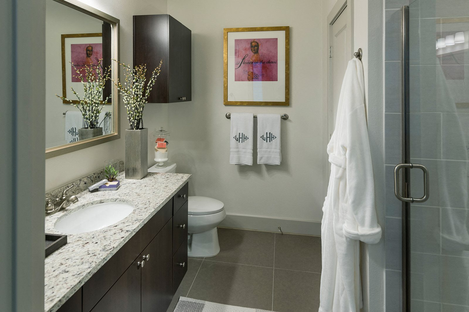 Stand Up Shower in Large Bathroom at Windsor Lantana Hills, Austin, 78735