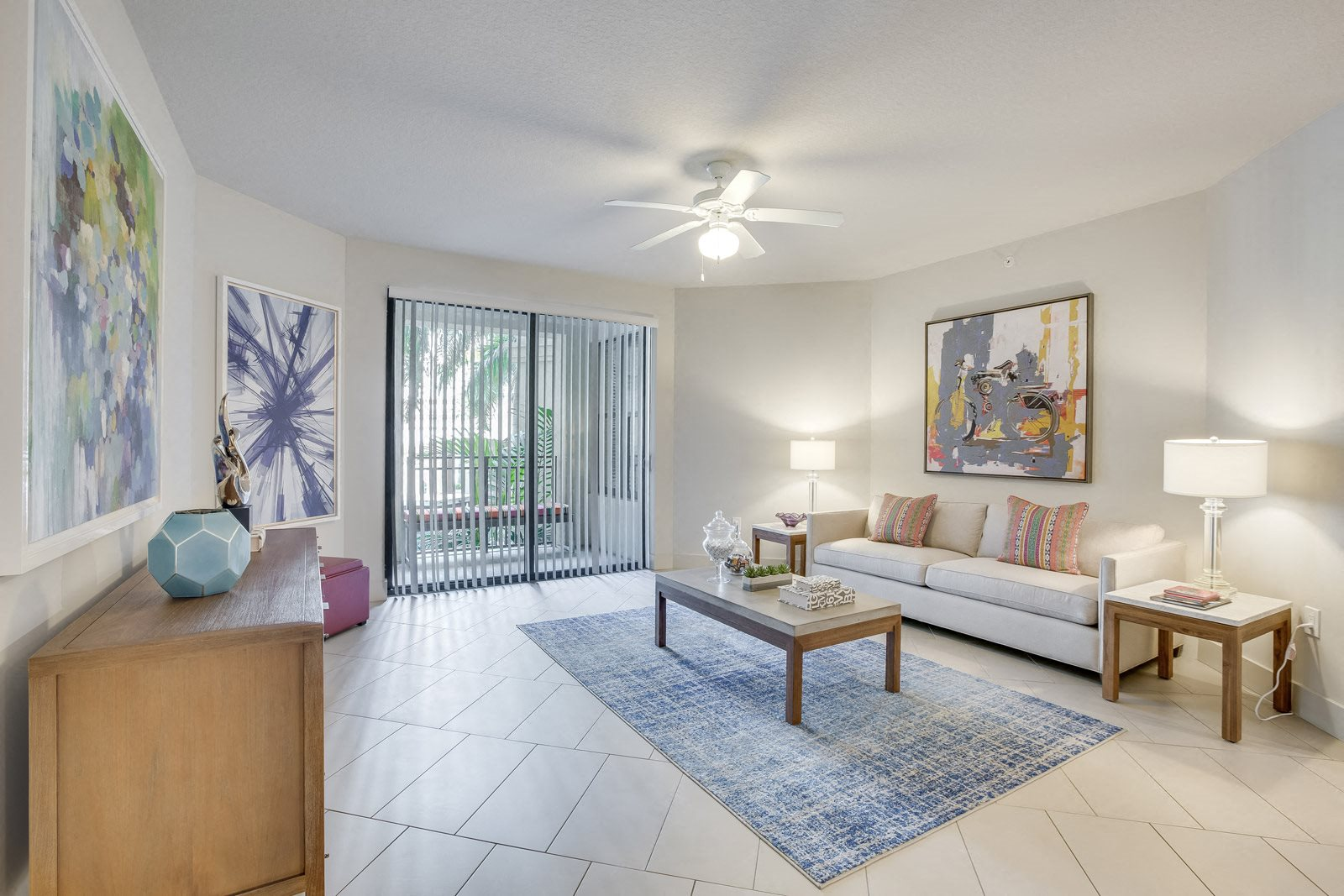 Over-sized balconies and patios at Windsor at Doral, Doral, 33178