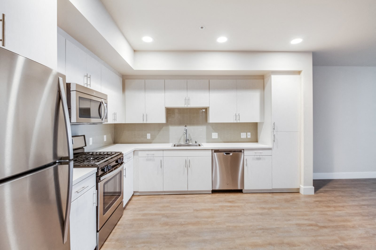 Modern Kitchens with Quartz Counters at Malden Station by Windsor, California, 92832