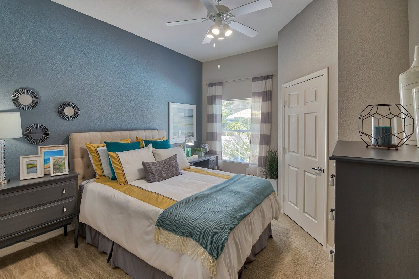 Contemporary Ceiling Fans in All Bedrooms at Windsor at Aviara, Carlsbad, California