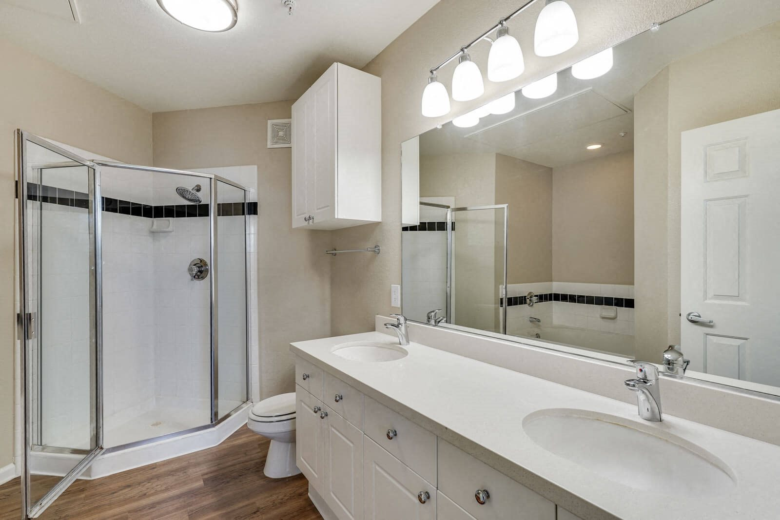 Renovated, Luxury Bathrooms at The Estates at Park Place, 3400 Stevenson Boulevard, CA