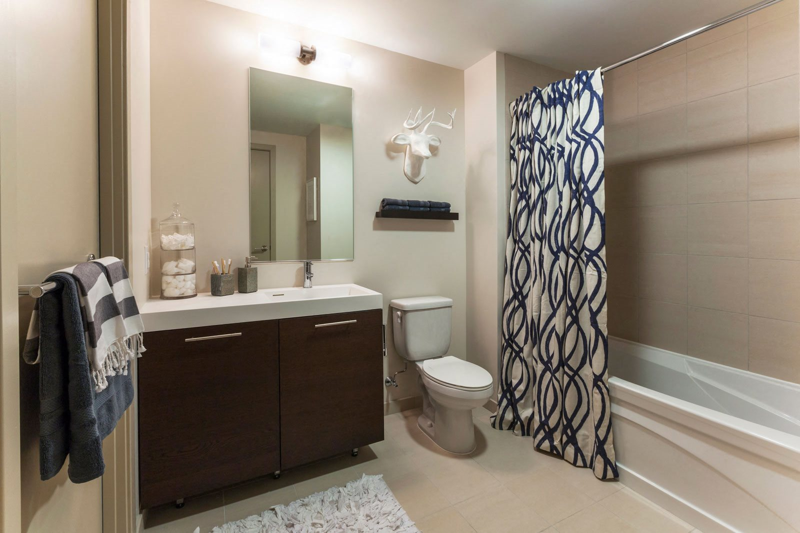Italian Tile Bathroom Floors and Surrounds at The Victor by Windsor, Boston, MA