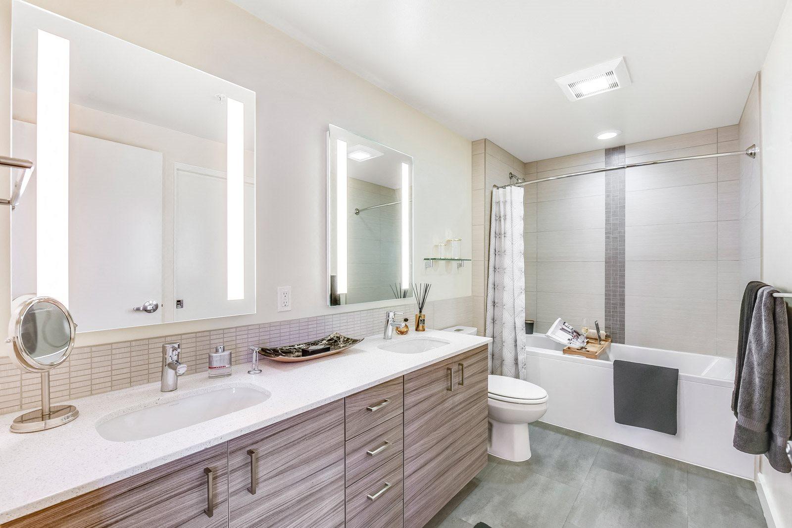 Designer Quartz Countertops and Tile Backsplashes at The Martin, Washington, 98121