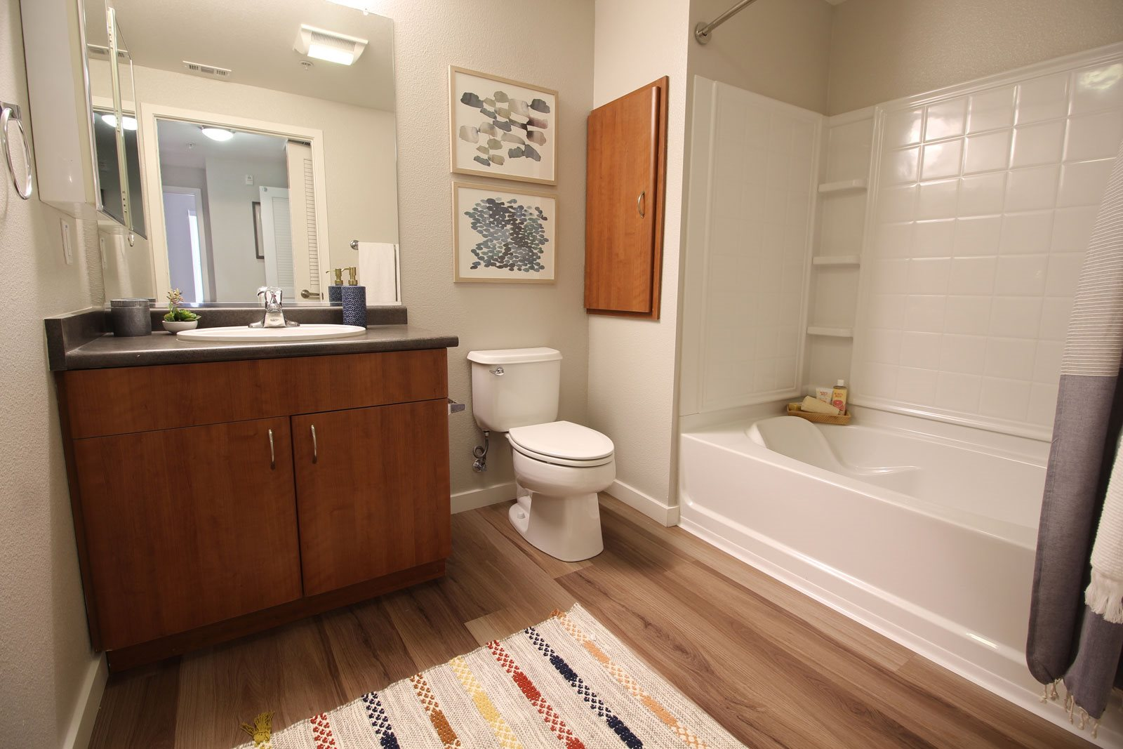 Spa-Inspired Bathrooms with Large Soaking Tub at Dublin Station by Windsor, 5300 Iron Horse Pkwy, Dublin