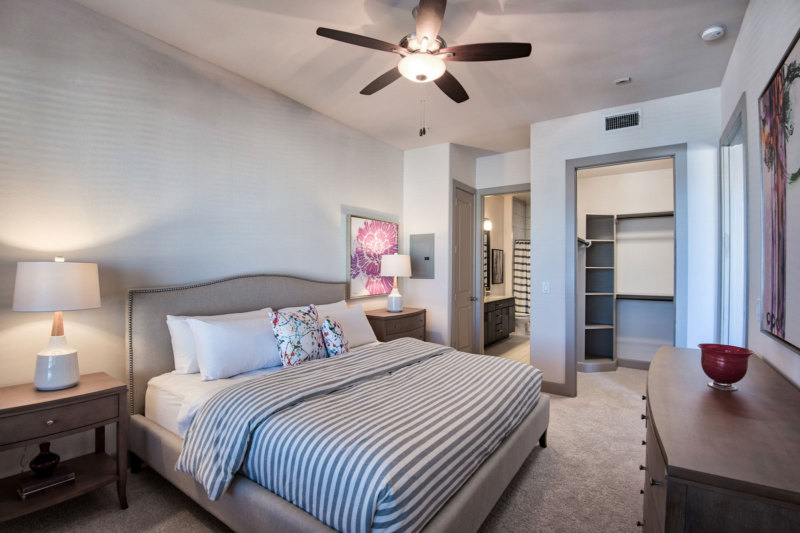 Master bedrooms with Attached Bathrooms and Walk-In Closets at Midtown Houston by Windsor, Texas, 77002