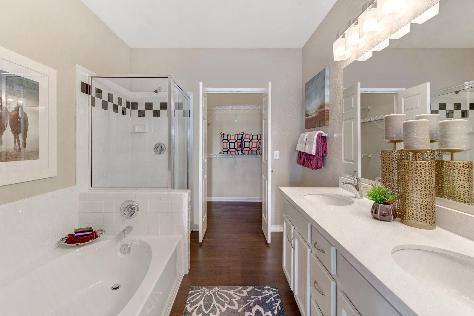 Double Vanities and Large Soaking Tubs in Select Bathrooms at Windsor at Aviara, Carlsbad, CA