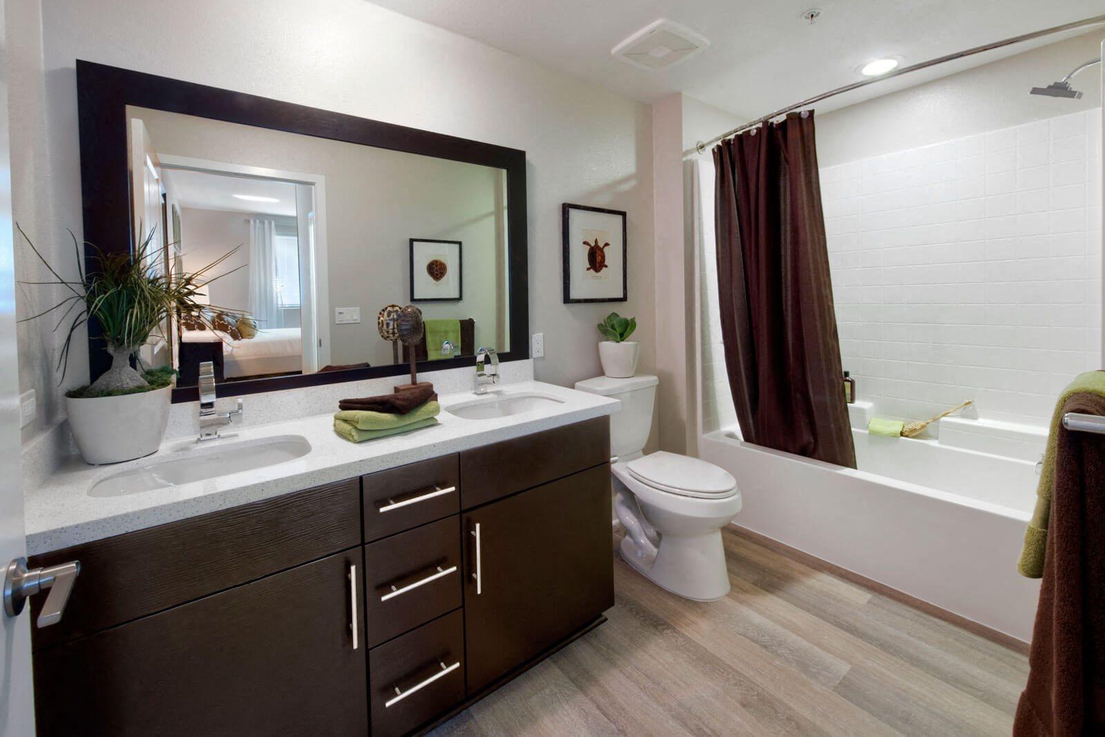 Spacious, Designer Bathrooms at Boardwalk by Windsor, 7461 Edinger Ave., Huntington Beach