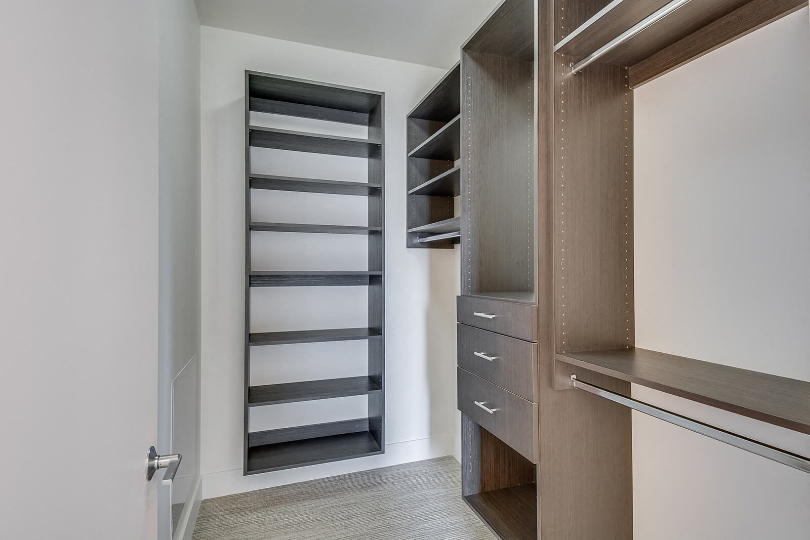 Spacious Walk-In Closets with Built-In Shelving Systems at Cirrus, Seattle, 98121