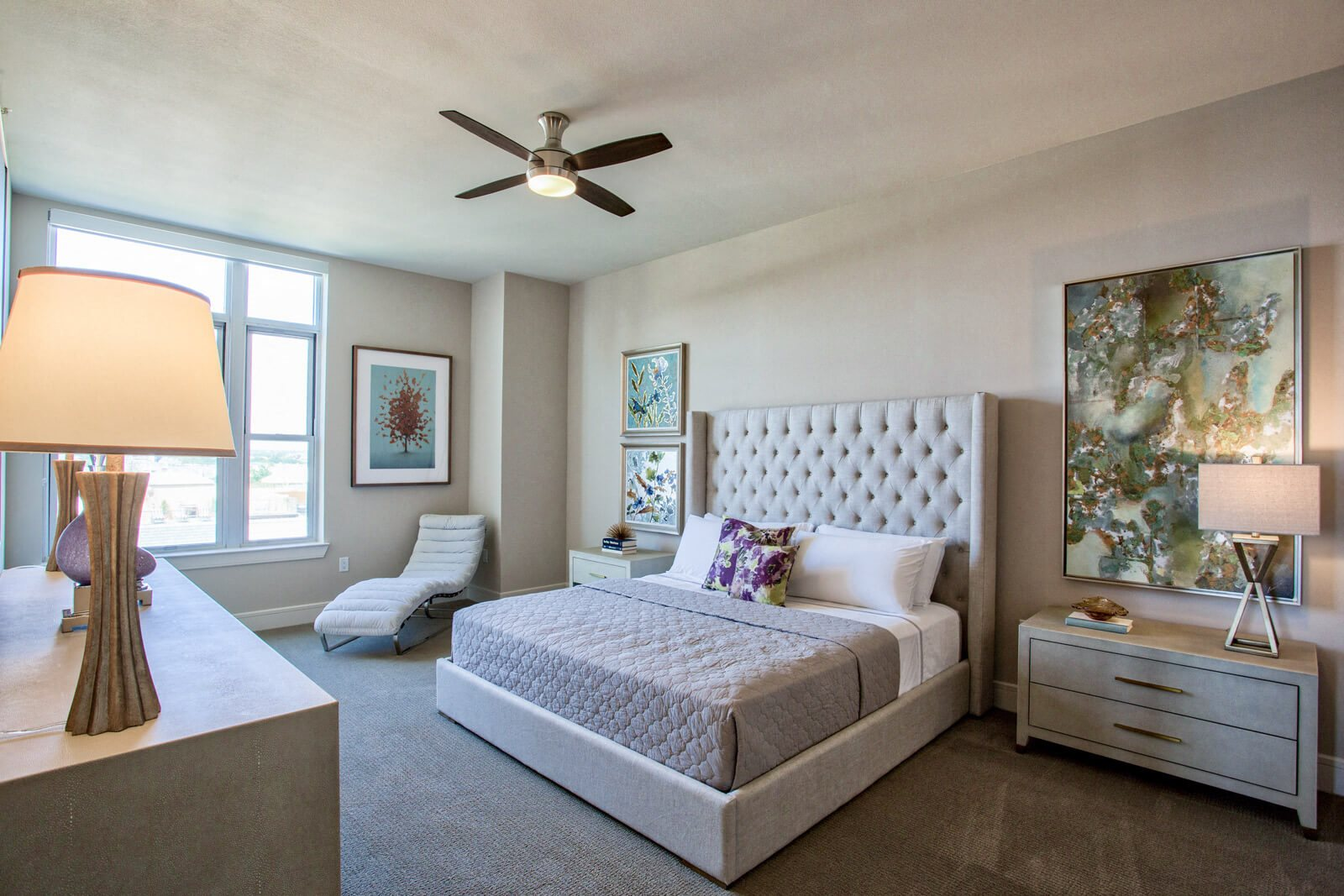Spacious Master Bedrooms with Ceiling Fans at The Jordan by Windsor, 75201, TX