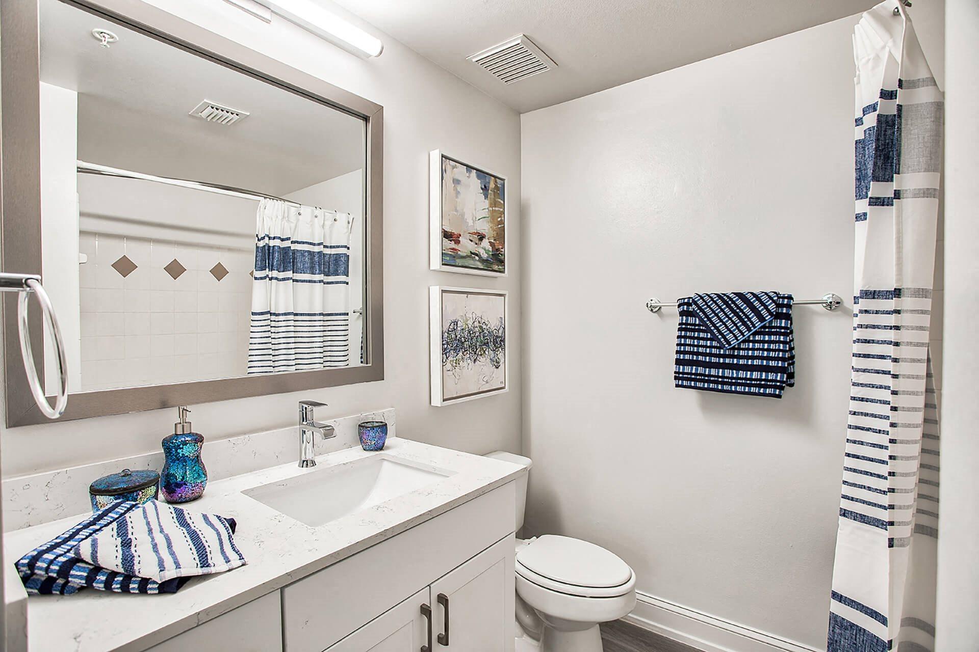 Renovated bathrooms,at Windsor at Miramar, Miramar, FL