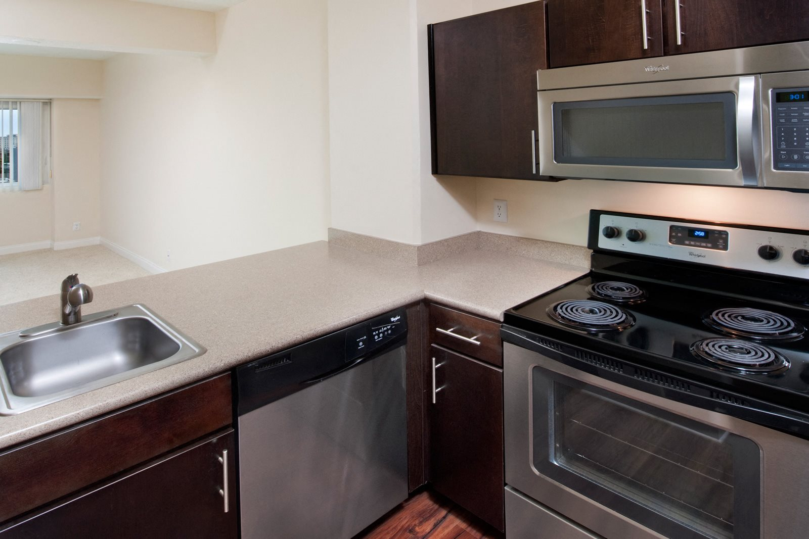 Upgraded Kitchen with Stainless Steel Appliances at Renaissance Tower, 90015, CA