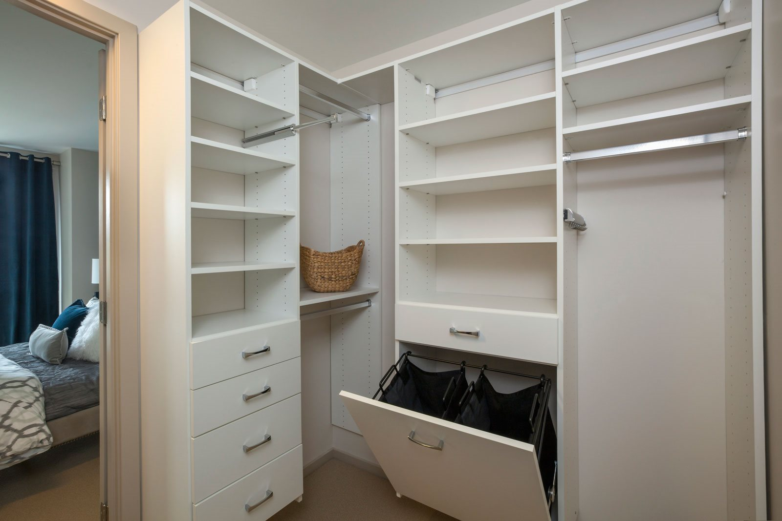 Roomy Walk-In Closets with California Closets at The Victor by Windsor, 110 Beverly St, Boston