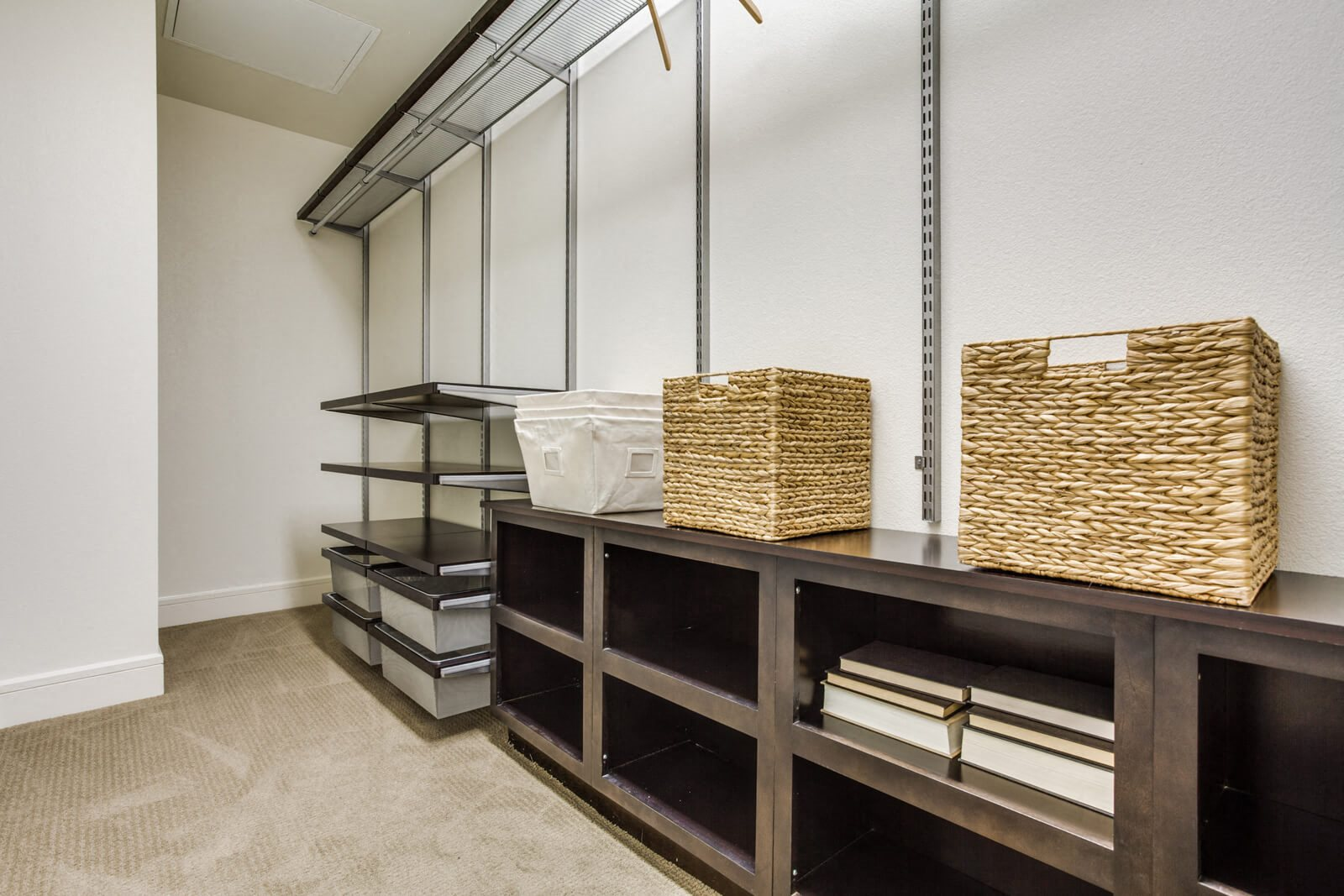 Walk-In Closets with Built-In Storage  at The Jordan by Windsor, 2355 Thomas Ave, TX
