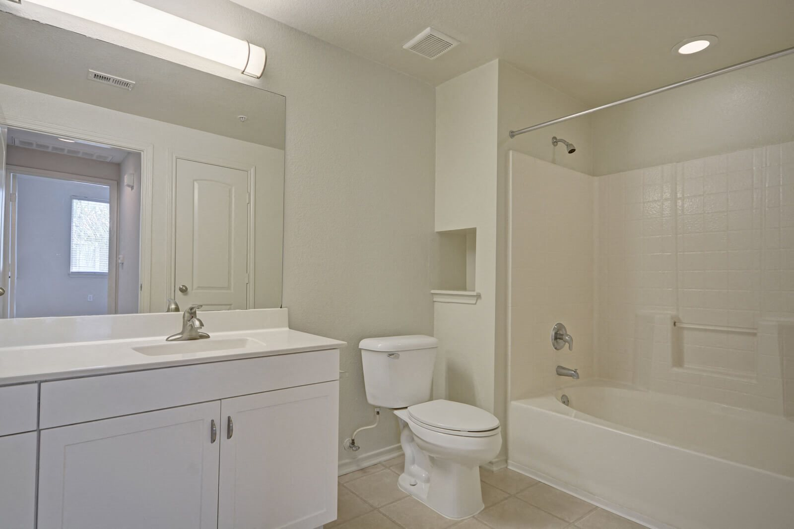 Modern Bathrooms with Ample Storage Space at Windsor at Main Place, 1235 West Town and Country Road, CA