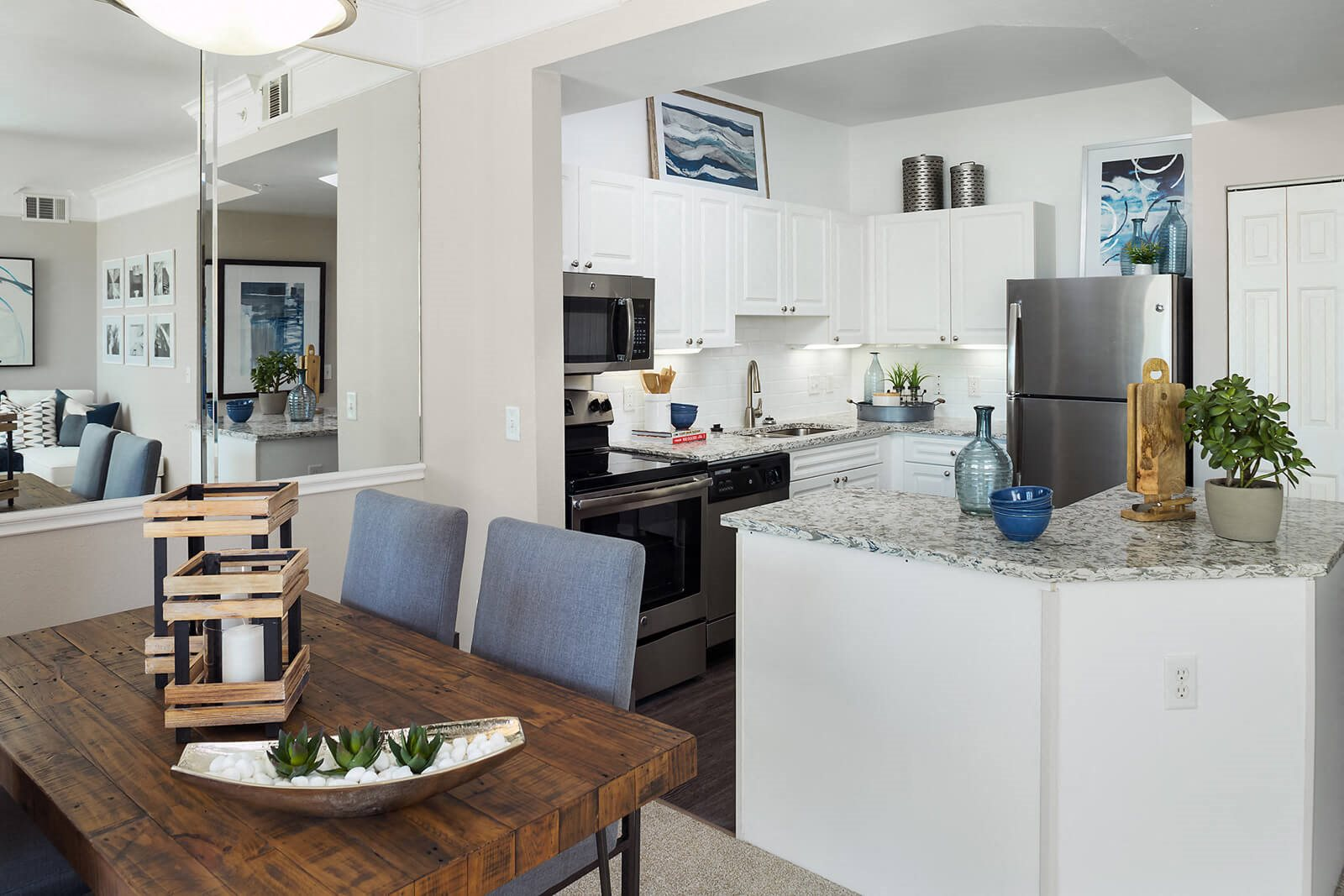 Modern Kitchens with Upscale Stainless Steel Appliances at Windsor at Meridian, 80112, CO