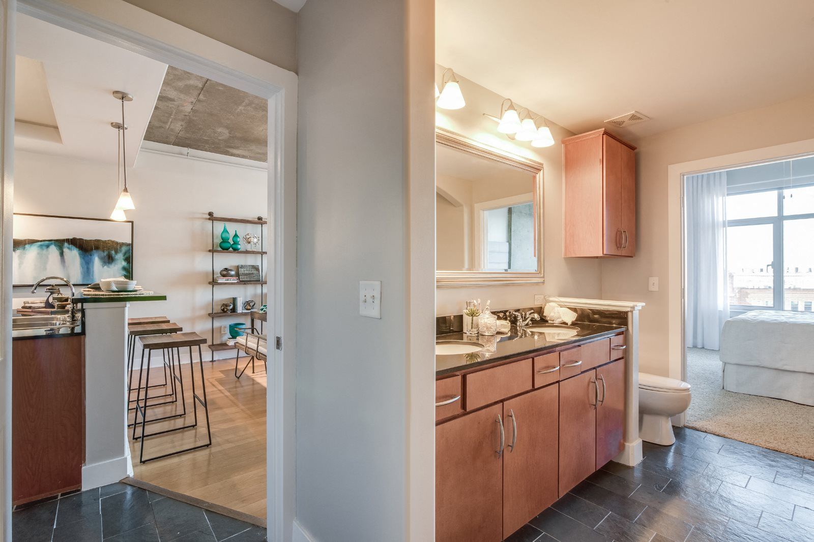 Granite Countertops in Kitchen and Bathrooms at Crescent at Fells Point by Windsor, Maryland, 21231