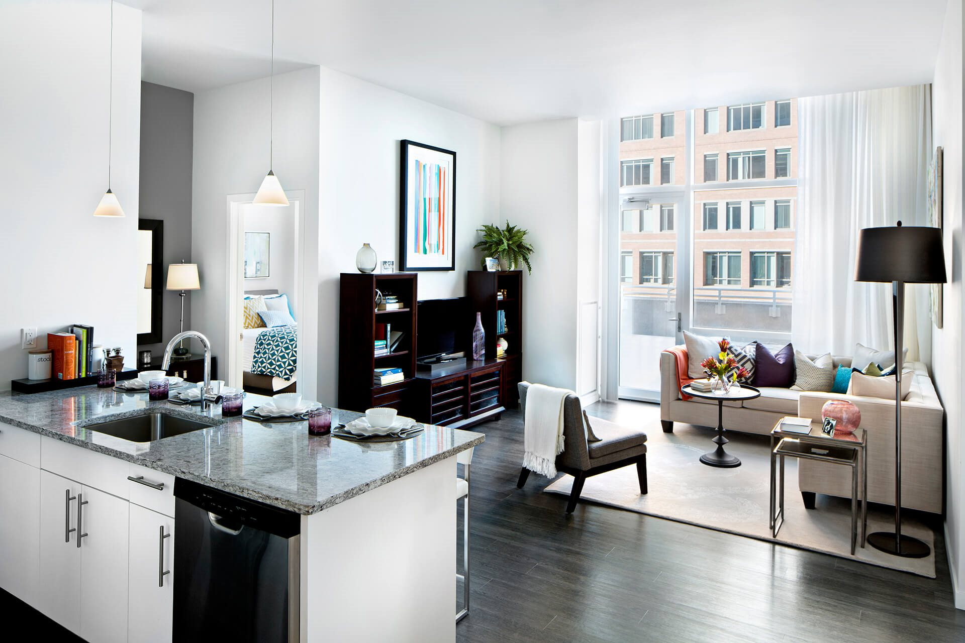 Abundant Natural Light in Apartments at Waterside Place by Windsor, 505 Congress S, Boston